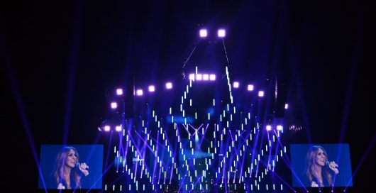 Celine Dion Summer Tour Kinetic Light Display