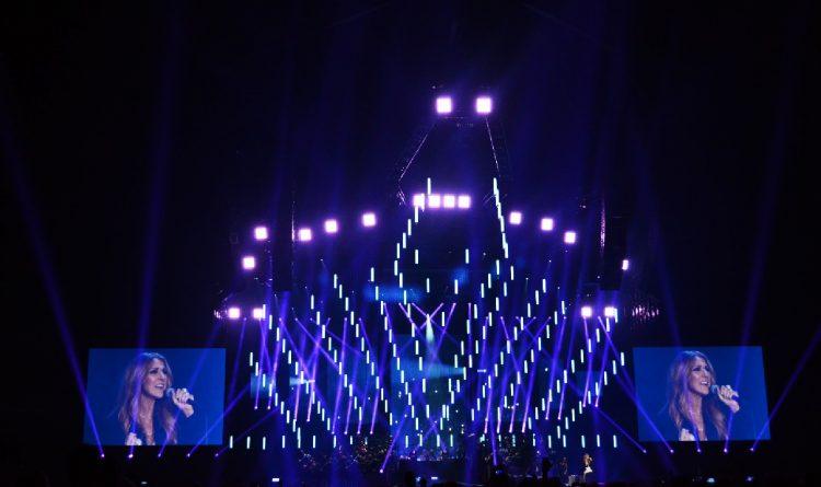 Celine Dion Summer Tour Kinetic Light Display