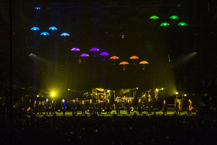 Kinetic LED Umbrellas