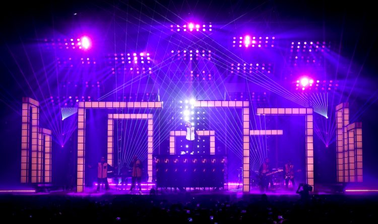 TAIT Bruno Mars Stage set design