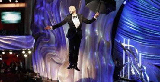 TAIT Navigator Flying Michael Keegan Keys at the Academy Awards