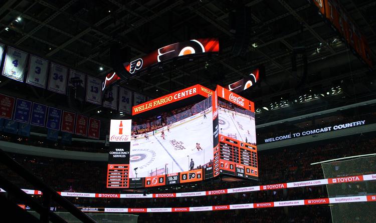 Kinetic Center-Hung Scoreboard